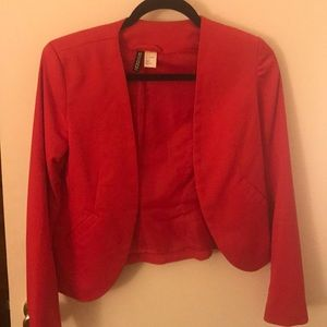 Adorable cropped red blazer from H+M